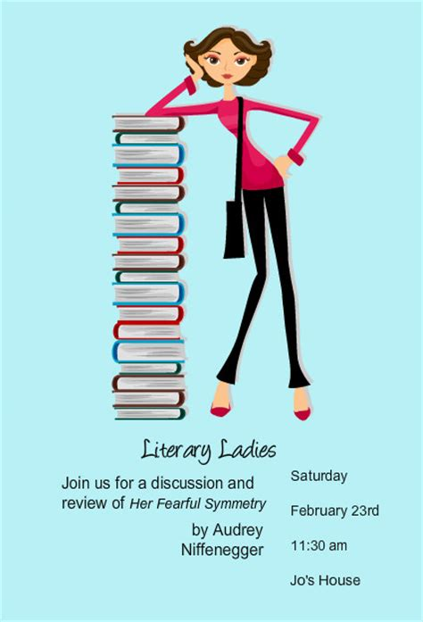 book club invitation template book club invitations reading stack book club invites