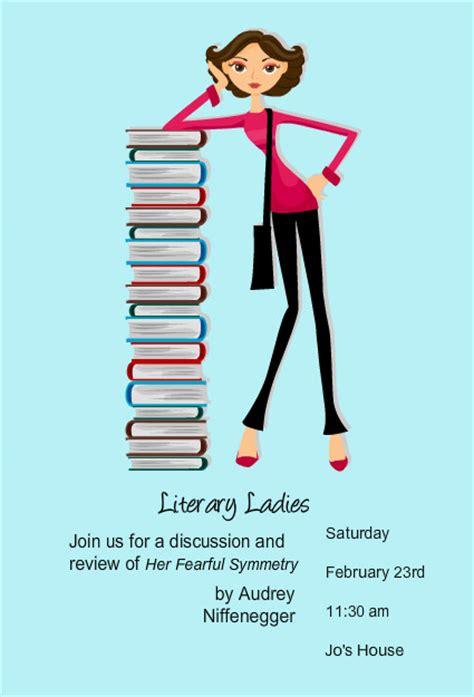 book club invitations reading stack book club invites