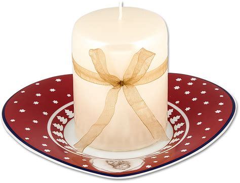 candela thun candela con piattino cuore dolce natale thun