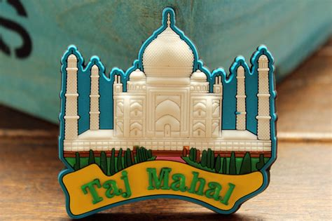 Souvenir India Tajmahal india taj mahal tourist travel souvenir rubber fridge magnet gift idea in fridge magnets from