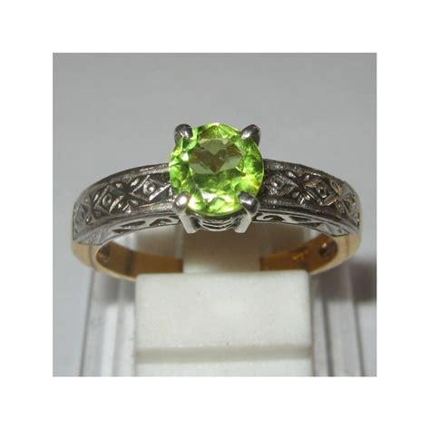 Peridot In Silver Ring With Memo cincin peridot untuk pernikahan atau lamaran ring 7us