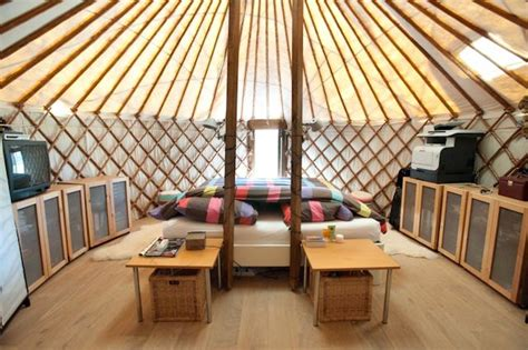 Low Cost Kitchen Design by Yurt Complex Yurt Pods Joining Yurts