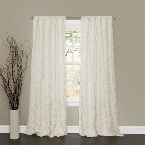 Lush Decor Curtains Lush Decor Lake Como Ivory 84 Inch Curtain Panel Contemporary Curtains By Overstock
