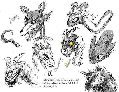Kaos Animal Sketch 02 doodles skylanders fnaf and ocs by pteradragon on deviantart