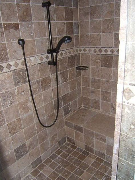 custom shower stalls with seat home shower stalls images bathrooms