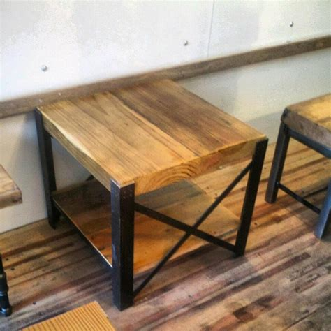 Wohnzimmertisch Metall Holz by Reclaimed Wood And Steel Coffee Table Quot X Quot Frame Style