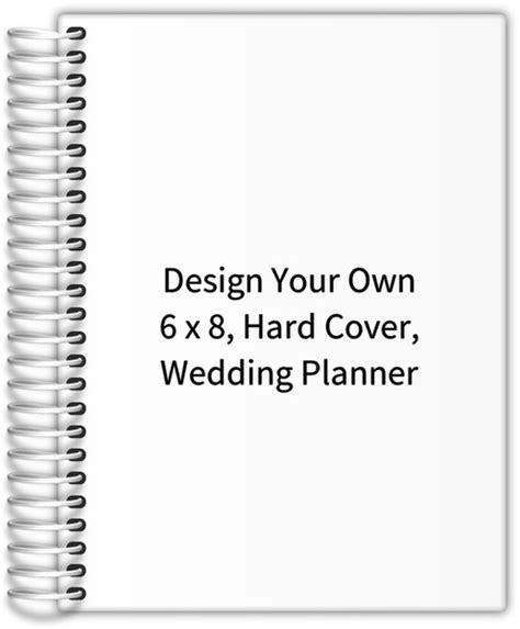design your own hardcover journal design your own 6 x 8 hard cover wedding planner