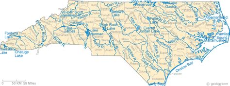 map of carolina rivers and creeks karenkuntaricheduc415 licensed for non commercial use