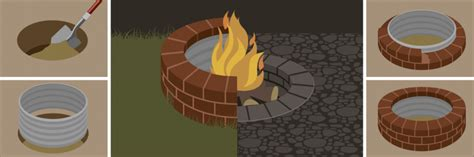 building a firepit in your backyard how to build a backyard fire pit diy illustrated guide