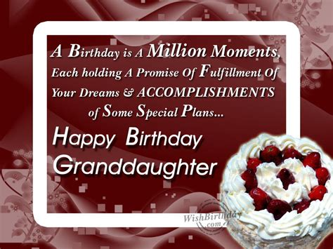 Happy Birthday Wishes For A Granddaughter Wishing Happy Birthday To A Loving Grand Daughter