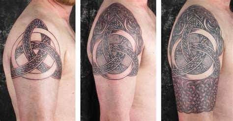 irish half sleeve tattoo designs scottish celtic tattos on celtic tattoos