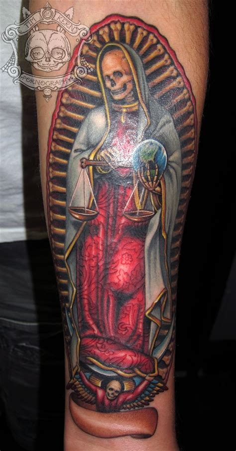 santa muerte timkern amazing tattoo art pinterest