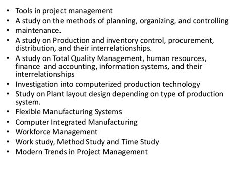 Mba Project Report On Time Management by Project Report Titles For Mba In Production Management