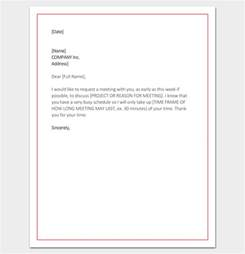 Official Letter Asking For A Meeting Meeting Appointment Letter 9 Templates For Word Pdf Format