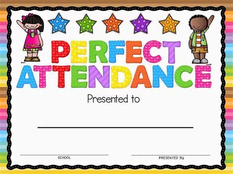 Perfect Attendance Award Classroom Freebies Attendance Certificate Perfect Attendance Attendance Award Template
