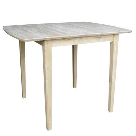 unfinished square rectangular counter height dining table