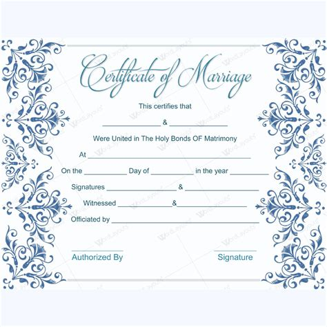 fake marriage certificate template free dotxes