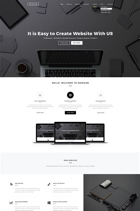Black White Labels Website Template 65334 White Label Website Templates