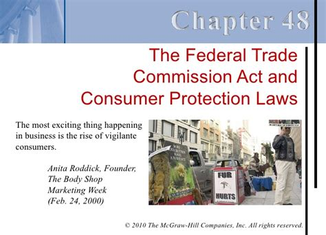 Federal Trade Commission Act Section 5 by Chapter 48 The Federal Trade Commission Act And Consumer