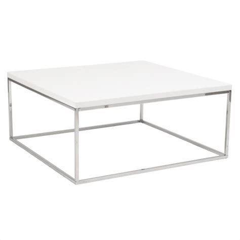 Square White Coffee Table Eurostyle Teresa Square White Lacquer Coffee Table Ebay