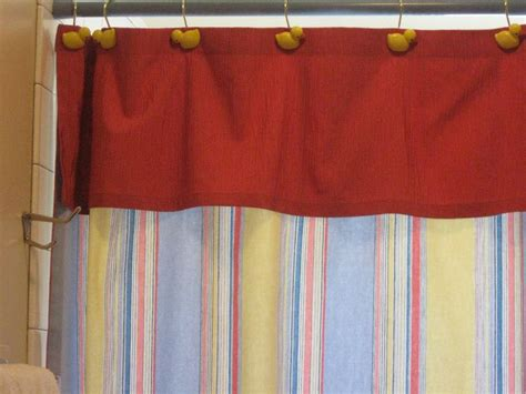 shower curtain with attached valance pin by aoife o gorman on fabric shower curtains with