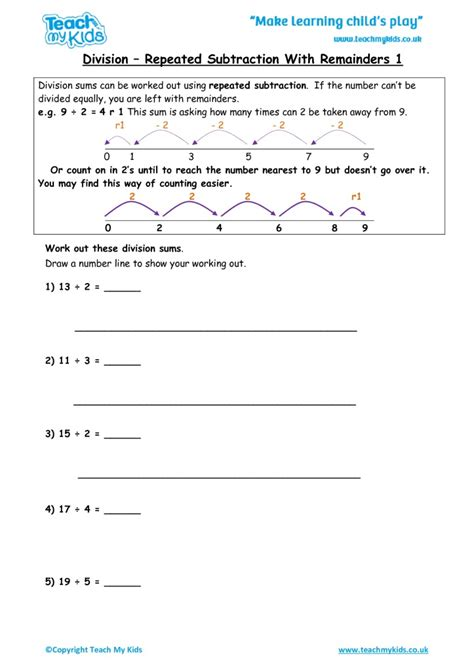 Division As Repeated Subtraction Worksheets Free by Repeated Subtraction Worksheets Photos Jplew