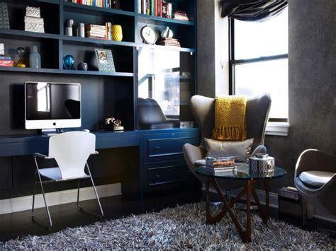 Blue Office by Beautiful Blue Navy Interiors For Home Decor Ideas