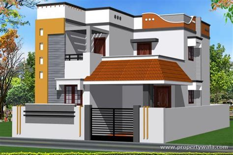 independent house elevation designs south india home