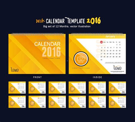 Calendar Template Indesign 2016 Assorted Free 2016 Calendar Design Templates Designfreebies