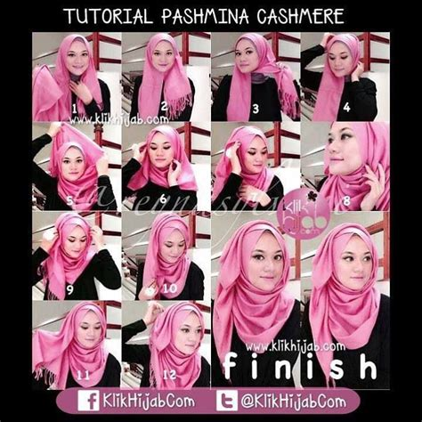 tutorial pashmina cashmire how to wear hijab with style for party hijabiworld