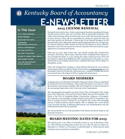 news letter format anamisat com