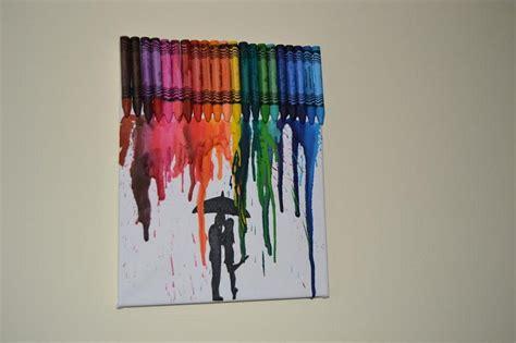 c 243 mo hacer un cuadro con ceras de colores derretidas
