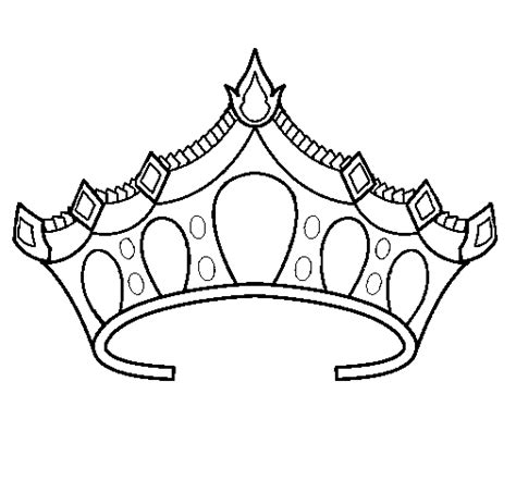 free coloring pages of crowns and tiaras