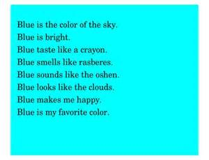 poems about blue colour