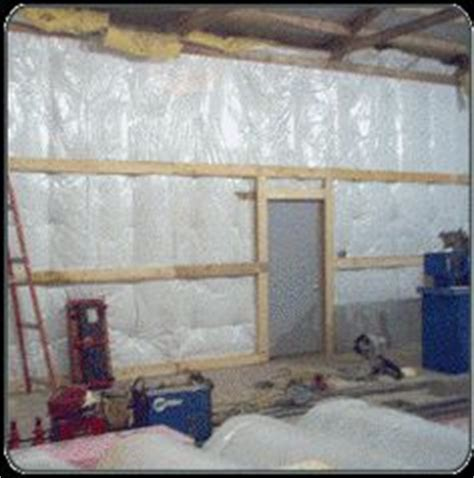 Insulating A Pole Barn Garage by Interior Of A Post Frame Garage Shop In Stanwood Wa