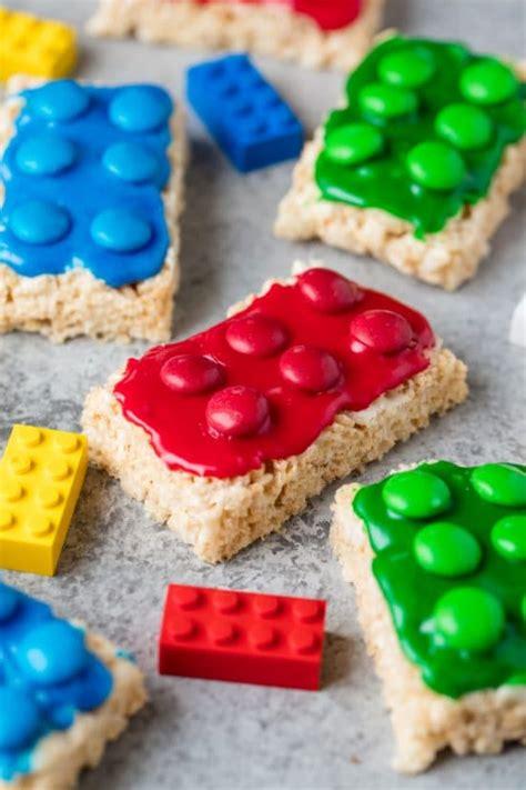 colored rice krispie treats lego rice krispie treats