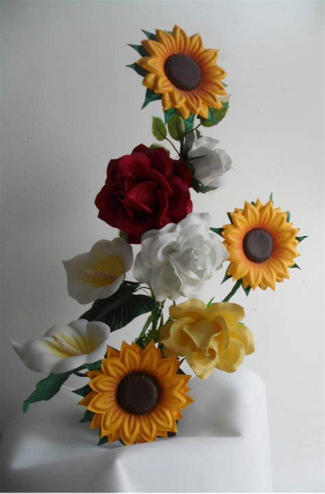 girasoles moldes de flores para hacer arreglos florales en moldes de flores foami gratis imagui