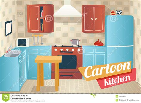clipart cucina kitchen furniture accessories interior stock