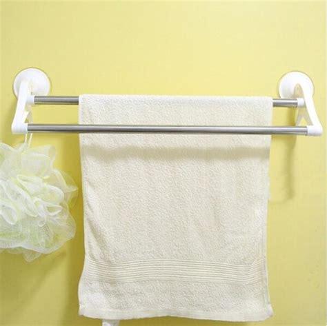white bathroom towel racks new white bath towel holder with sucker 51 11cm bathroom