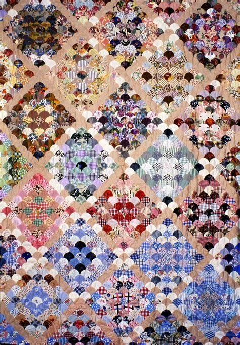 Clamshell Patchwork - collections quilt museum and gallery york