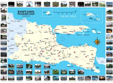 east java tourism map surabaya indonesia mappery