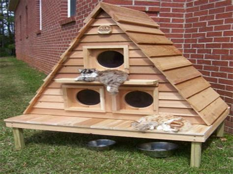 Outdoor House Plans by Plans For Outdoor Winter Cat Houses Outdoor Cat House