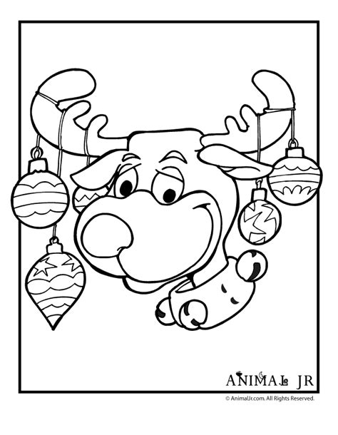coloring pages of christmas reindeer free coloring pages of reindeer