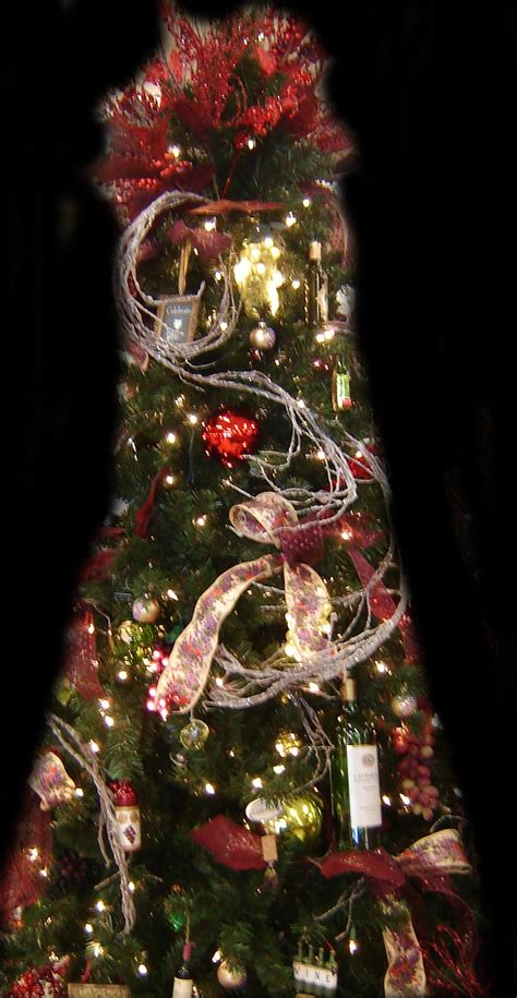 wine theme christmas tree a wine themed tree tree wine and tree