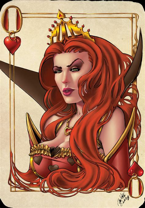 queen of hearts by vassya on deviantart