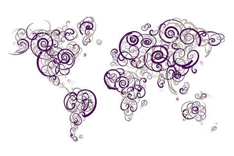 northwestern colors northwestern colors swirl map of the world