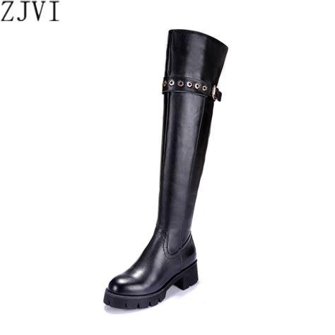 genuine leather boots womens zjvi genuine leather black thigh high boots womens the knee boots winter