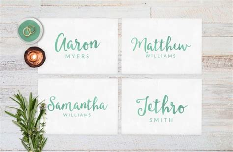 Wedding Name Cards by Wedding Place Cards Wedding Reception Decor Place Cards