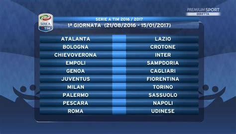 Calendario 6 Giornata Serie A Serie A Ecco Il Calendario Giornata Per Giornata Foto