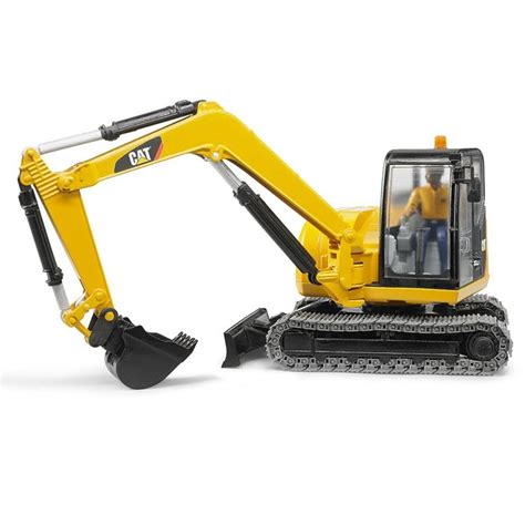 bruder excavator bruder cat mini excavator with worker construction vehicle